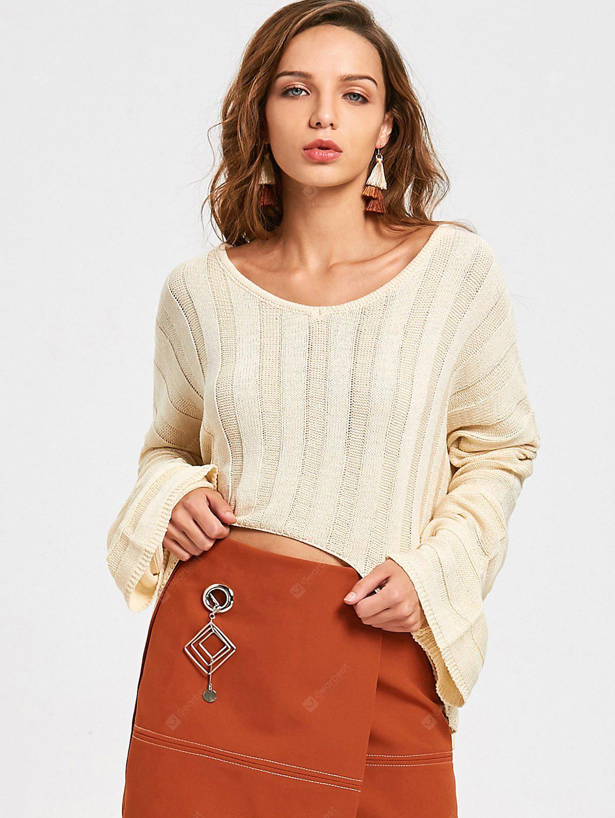 V Neck High Low Oversized Sweater