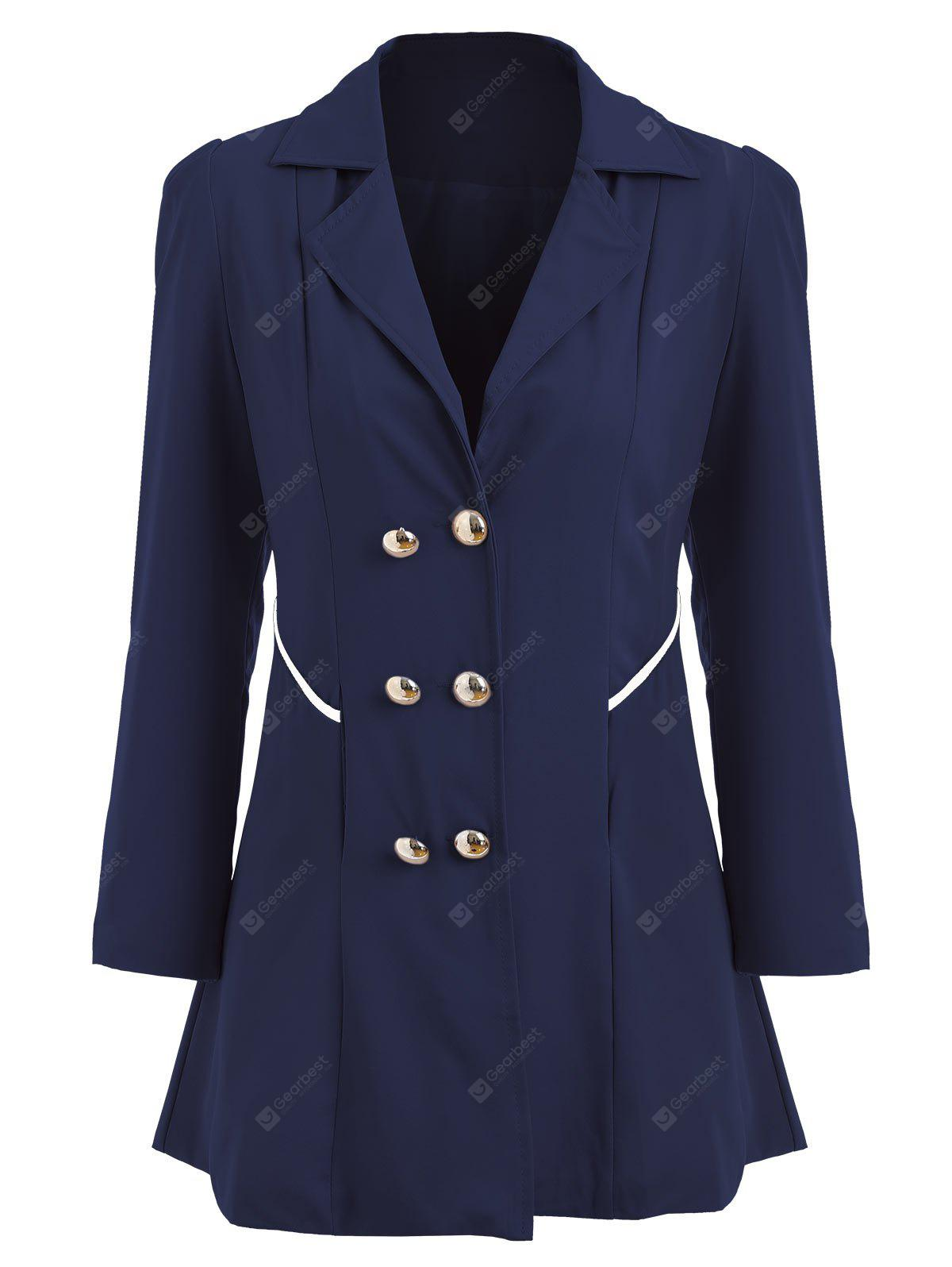 Double Breasted Tunic Swing Trench Coat