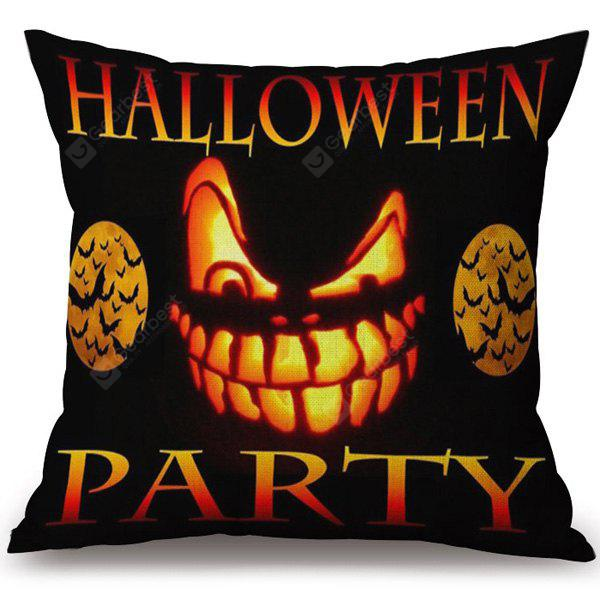 COLORMIX Soft Happy Halloween Party Printed Decorative Pillow Case