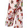 Plus Size Santa Claus Christmas Dress with Sleeves - APRICOT