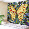 Wall Hanging Butterfly Printed Tapestry - YELLOW