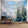 Snowscape Print Wall Hanging Tapestry - COLORMIX