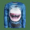 Whale Print Mens Sweatshirt - BLUE