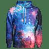 Colorful Galaxy Print Hoodie - COLORMIX