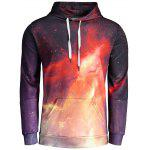 Fire Print Mens Hoodie - COLORMIX