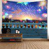 Colorful Fireworks Pattern Waterproof Wall Hanging Tapestry - COLORFUL
