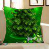 Green Christmas Tree Pattern Decorative Pillow Case - GREEN