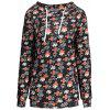 Plus Size Halloween Skull Cross Print Hoodie - BLACK