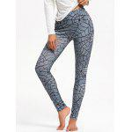 Spider Web Print Halloween Leggings - GRAY