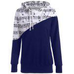 Music Note Two Tone Hoodie - DEEP BLUE