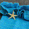 Chic Knitting Mermaid Design Baby Sleeping Bag Blanket - LAKE BLUE