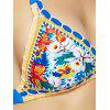 Femmes Chic  's Halter Backless Floral Print Bikini String - MULTICOLORE