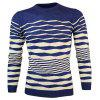 Buy CADETBLUE Crew Neck Wave Stripe Pullover Knitwear for $9.51 in GearBest store