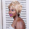 Short Multi Color Fluffy Oblique Bang Straight Synthetic Wig - COLORMIX