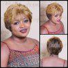 Short Multi Color Fluffy Full Bang Straight Synthetic Wig - COLORMIX