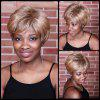 Short Double Color Fluffy Neat Bang Straight Synthetic Wig - COLORMIX
