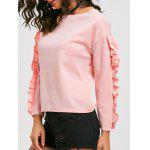 Ruffle Sleeve Top - PINK