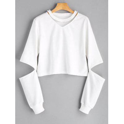 Cut Out Sleeve Sweatshirt