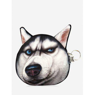 3D Dog Pattern Funny Coin Purse