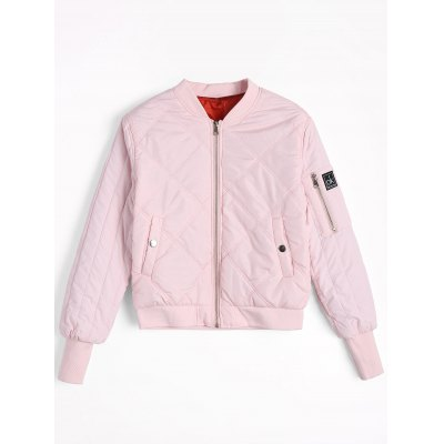 Zippered Badge Patched Pilot Jacket