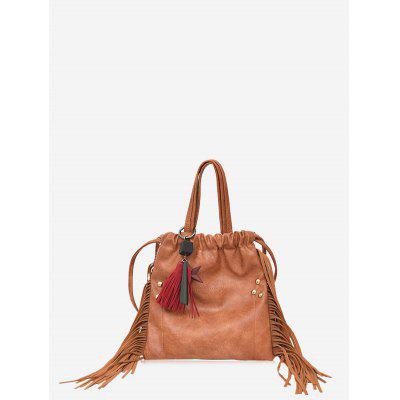 Fringe Rivet String Handbag