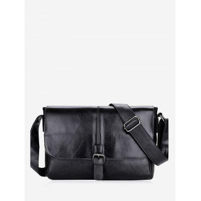 Buckle Strap PU Leather Crossbody Bag