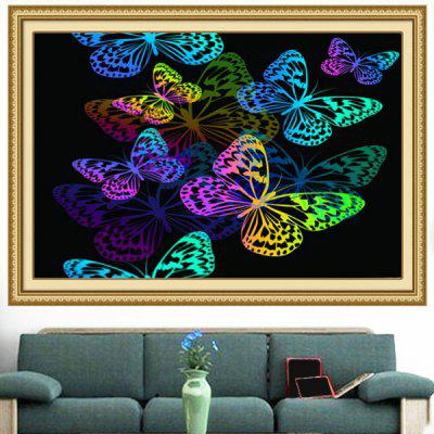 Colorful Butterflies Pattern Multifunction Stick-on Wall Art Painting