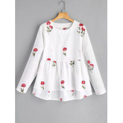 Flower High Low Blouse