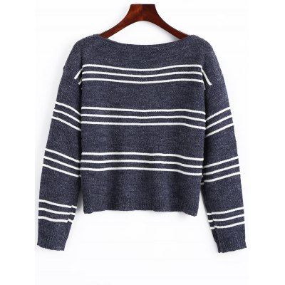 Stripes Long Sleeve Pullover Sweater