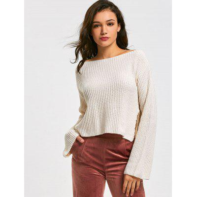 Side Slit Cropped Oversized Sweater