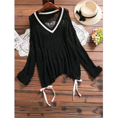 Hollow Out Self Tie Knitted Top