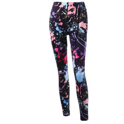 Buy COLORMIX L Splatter Paint Leggings for $14.22 in GearBest store