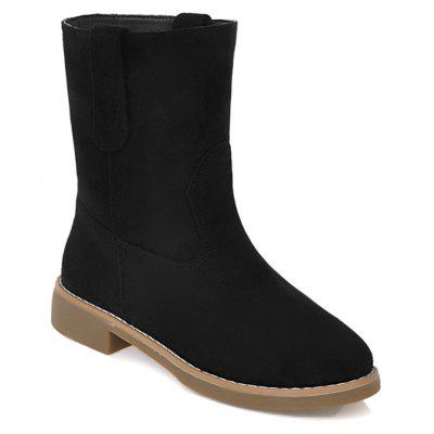 Buy BLACK 36 Faux Suede Slip On Ankle Boots for $31.27 in GearBest store
