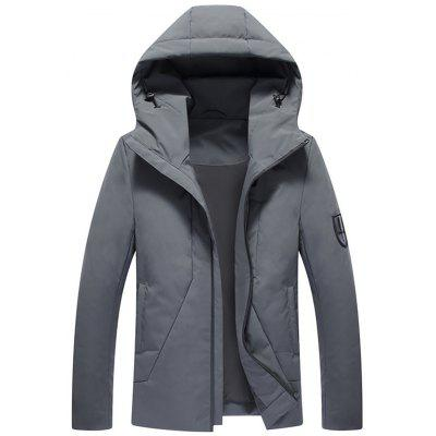 Hooded Zip Up Down Jacket