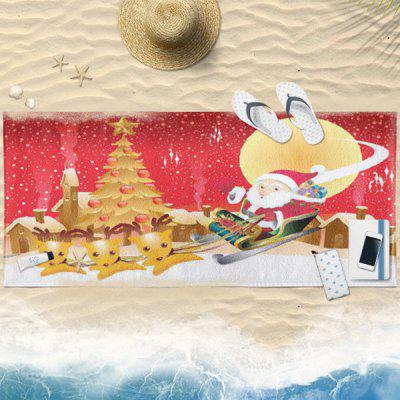 Water Absorption Christmas Sled Bath Towel
