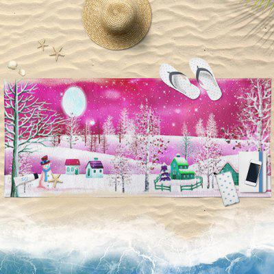 Christmas Snowscape Water Absorption Bath Towel