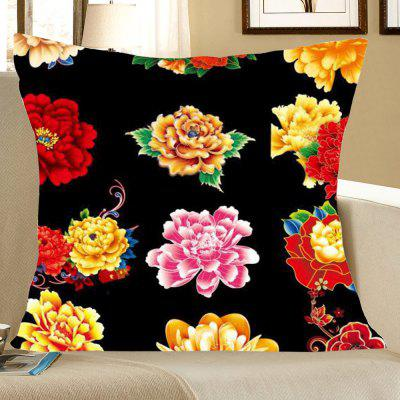Multi-Peonies Pattern Decorative Pillow Case