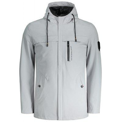 Zipper Hooded Mens Jacket