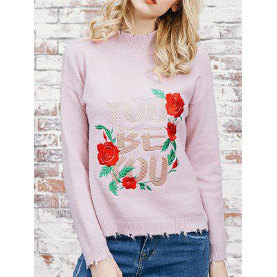 Flower Patched Sweater