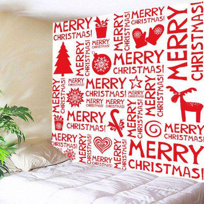 Buy RED Wall Hanging Art Merry Christmas Letter Print Tapestry for $13.85 in GearBest store