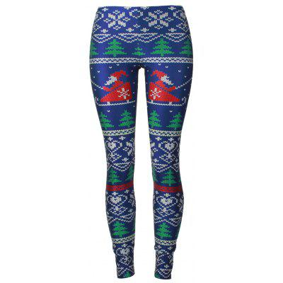 Santa Claus Christmas Tree Leggings