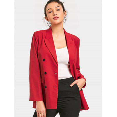 Double-breasted Long Sleeve Blazer