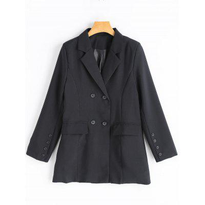 Double Breasted Tunic Blazer