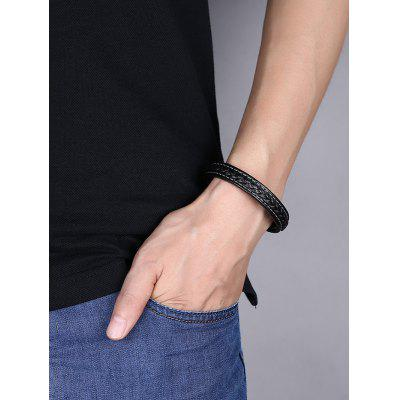 Faux Leather Braid BraceletMens Jewelry<br>Faux Leather Braid Bracelet<br><br>Chain Type: Leather Chain<br>Gender: For Men<br>Length: 20CM<br>Package Contents: 1 x Bracelet<br>Shape/Pattern: Geometric<br>Style: Trendy<br>Weight: 0.0400kg