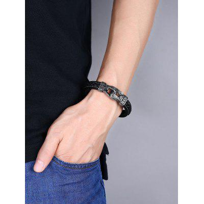 Alloy Faux Leather Braid BraceletMens Jewelry<br>Alloy Faux Leather Braid Bracelet<br><br>Chain Type: Leather Chain<br>Gender: For Men<br>Length: 20CM<br>Package Contents: 1 x Bracelet<br>Shape/Pattern: Round<br>Style: Trendy<br>Weight: 0.0300kg
