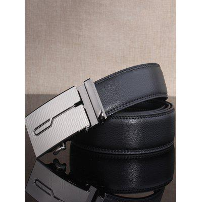 Stylish Polished Geometric Automatic Buckle Wide BeltMens Belts<br>Stylish Polished Geometric Automatic Buckle Wide Belt<br><br>Belt Length: 105-125CM<br>Belt Material: Cowskin<br>Belt Silhouette: Wide Belt<br>Belt Width: 3.5CM<br>Gender: For Men<br>Group: Adult<br>Package Contents: 1 x Belt<br>Pattern Type: Others<br>Style: Formal<br>Weight: 0.2270kg