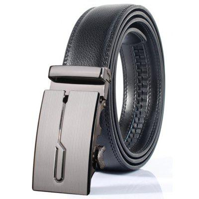 Stylish Polished Geometric Automatic Buckle Wide Belt в магазине GearBest