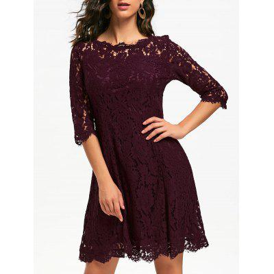 Lace Mini Party Evening Dress