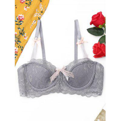 Lace Scalloped Trim Bra