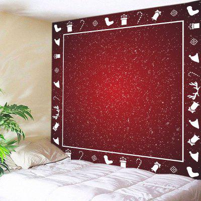 Wall Hanging Art Snowy Christmas Print Tapestry
